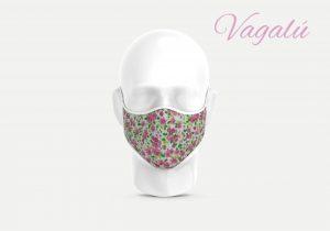 mascarillas flores rosas pequeñas